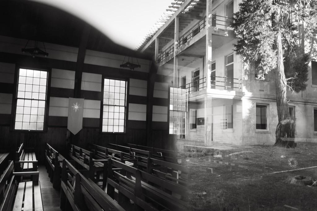 Eglise d'Angel Island (Californie) depuis l'extérieur