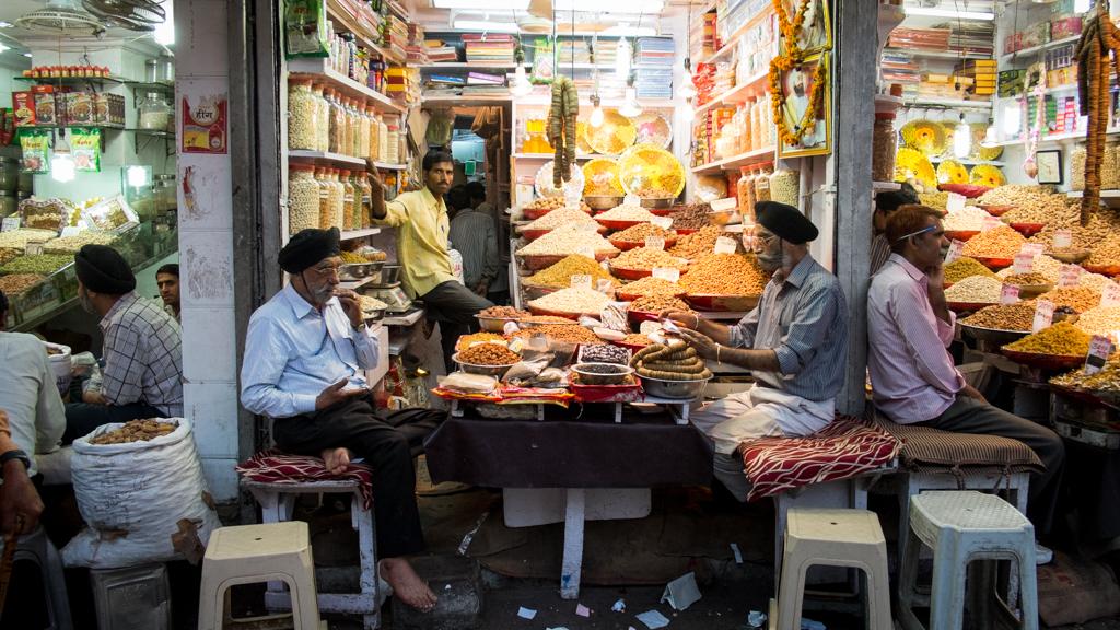 Marché aux épices Old Delhi