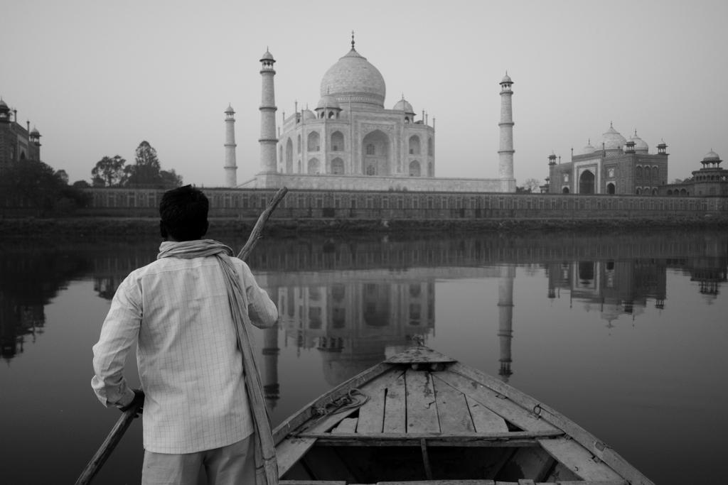 Lever Soleil Taj Mahal