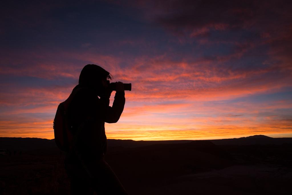 Silhouette valle de la muerte