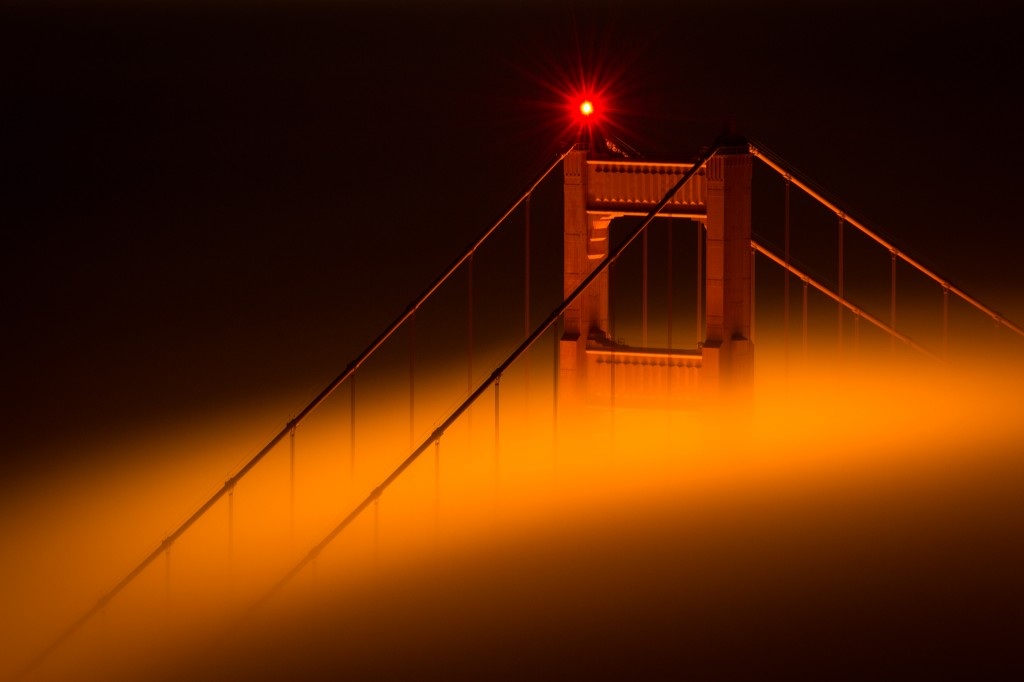 Etoile Golden Gate Bridge brouillard
