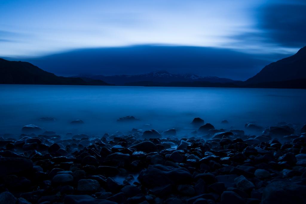 Lago Nordenksjöld de nuit