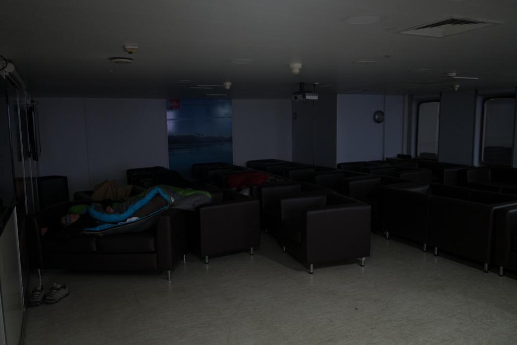 Salle commune après la tempête