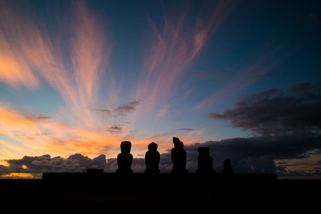 Ahu Tahai coucher soleil Ile de Paques