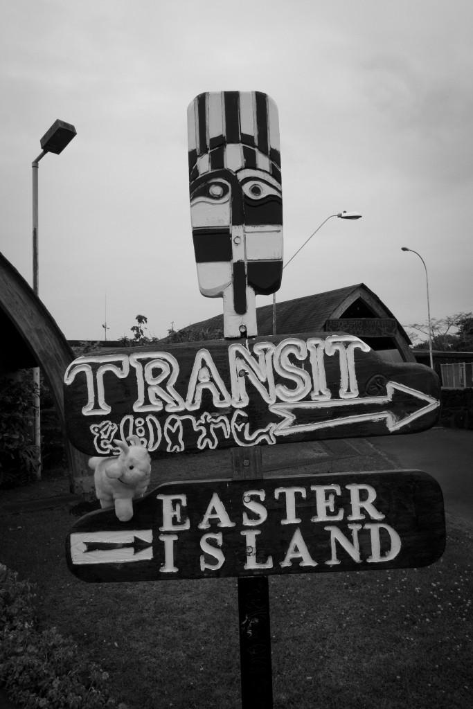 Yolande panneau île de Pâques
