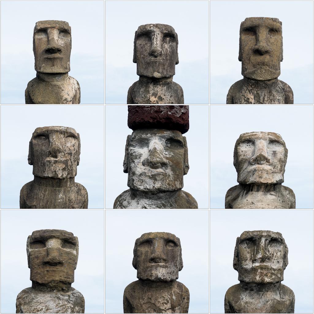 Portraits de moaï Ahu Tongariki
