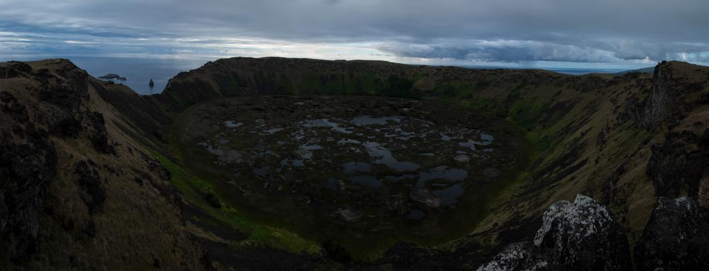 Volcan Rano Kau Panorama